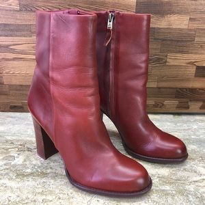 Sam Edelman Reyes boots Rust Red Size 7